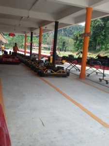 The go-kart area